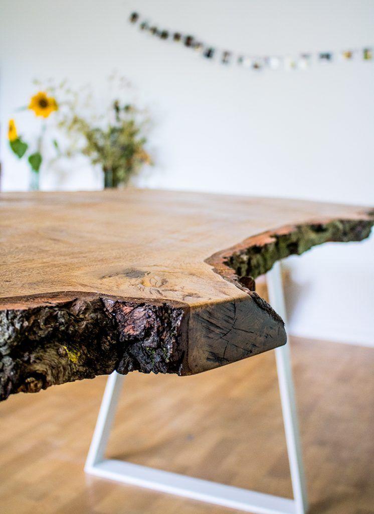 Anleitung Designer Tisch Mit Massiver Tischplatte Selber Bauen Diy Tisch Selber Bauen Design Tisch Selber Bauen Anleitung