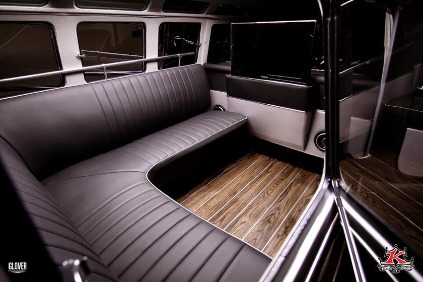 Vw bus kindig it design car audio pinterest for Vw kombi interior designs
