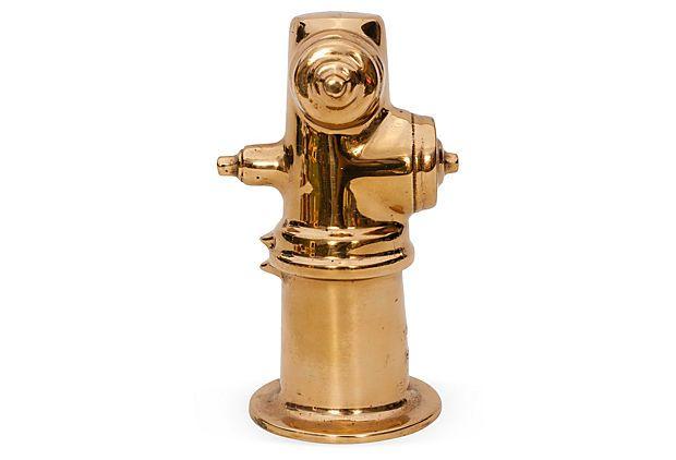 One Kings Lane Emily Henderson Vintage Brass Fire Hydrant Hydrant Fire Hydrant Vintage Brass