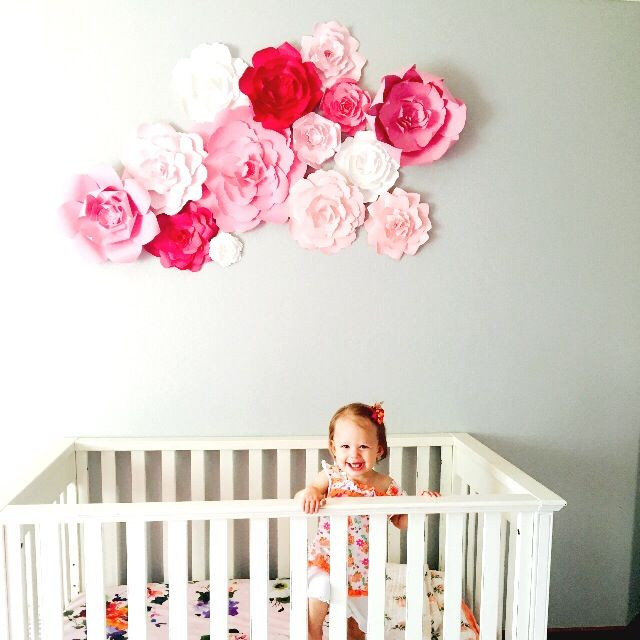 Diy Baby Nursery Floral Wall Decor