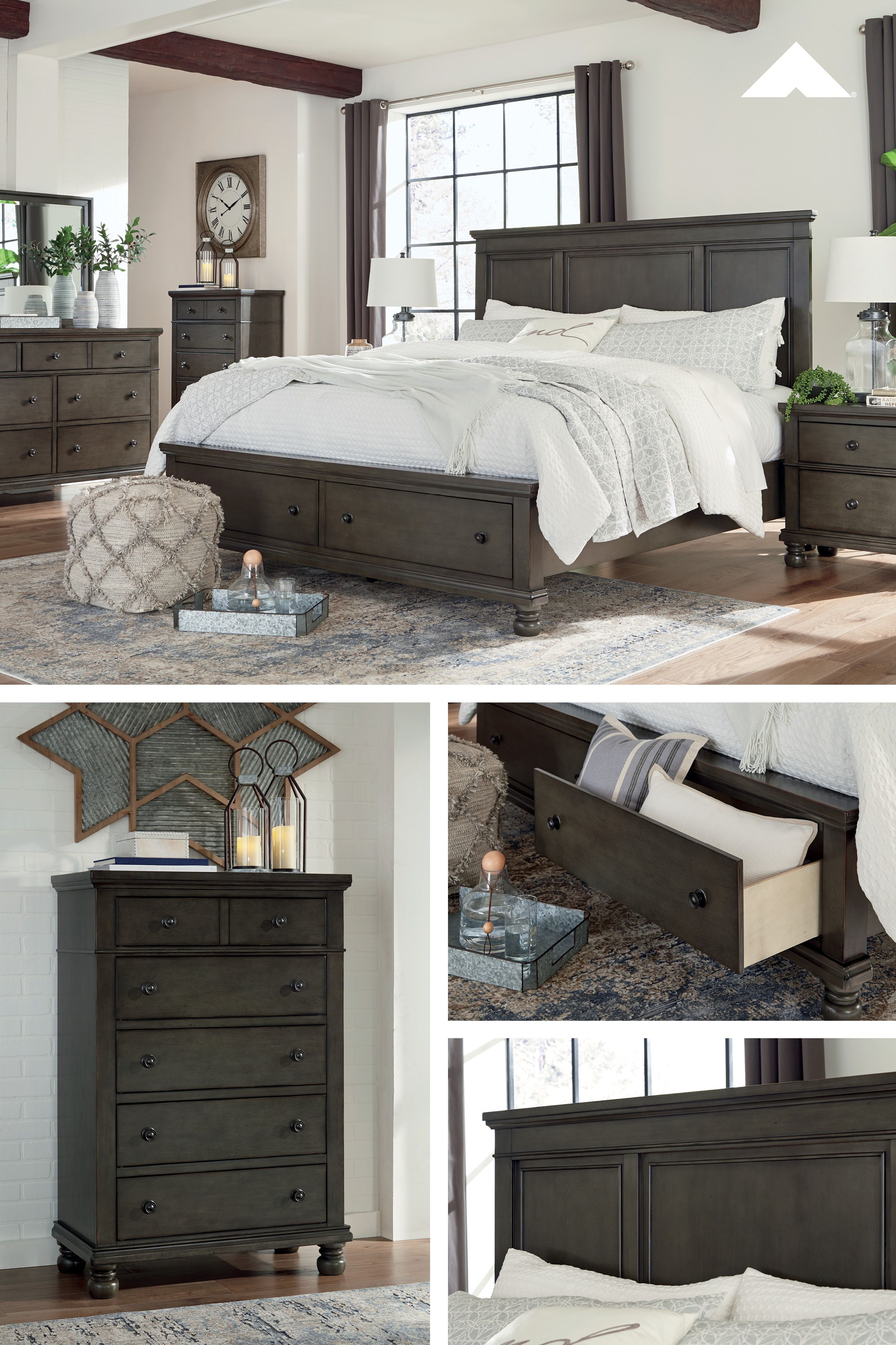 Devensted Dark Gray Master Bedroom By Ashley Furniture Relaxed