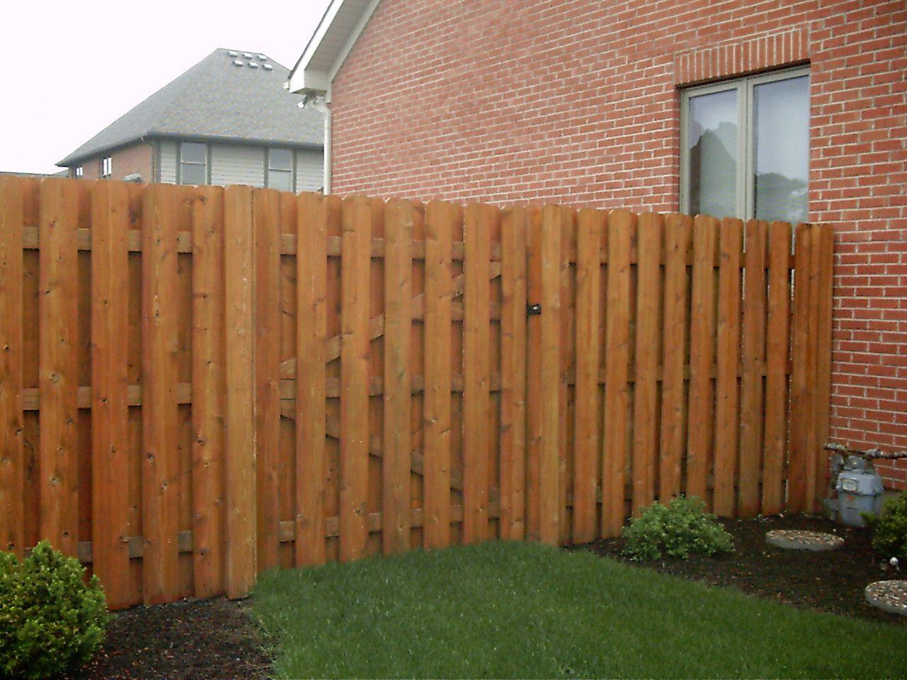 Shadow box gate landscaping ideas pinterest