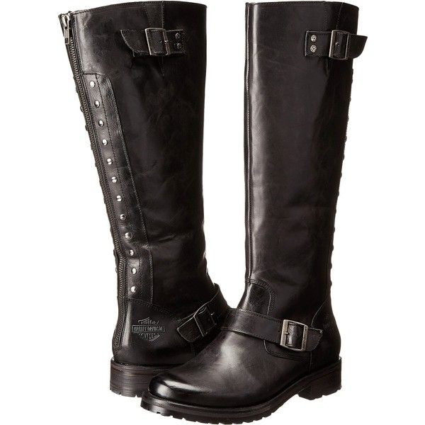 f88db6d2dc1 Harley-Davidson Helmsdale (Black) Women s Zip Boots ( 130) ❤ liked on  Polyvore featuring shoes