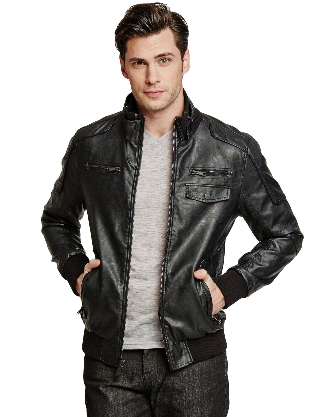 Medium Black Guess men, Jackets, Bomber jacket