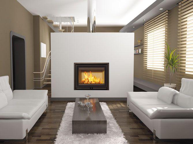 Les Cheminees Structurent L Espace Elle Decoration Foyer En Acier Decoration Maison Idee Chambre