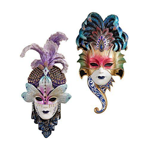 Design Toscano The Venetian 2Piece Masquerades Sculptural Wall Mask ...