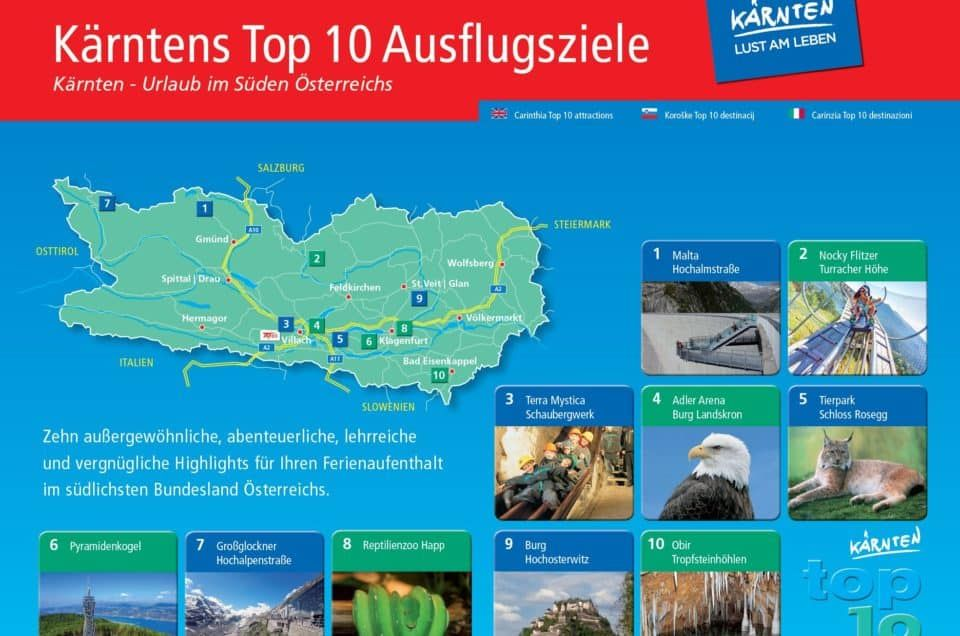 Die schönsten Sehenswürdigkeiten in Kärnten | TOP-10 Ausflugsziele
