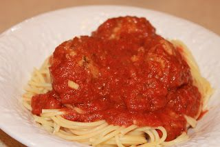 Seizing Life, One Measuring Cup At A Time: Guilt Free Spaghetti and Meatballs