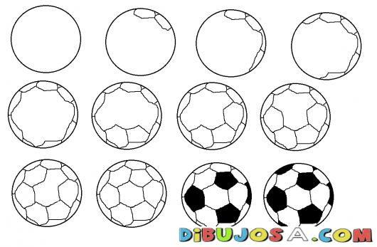 Cómo Dibujar Un Balón De Fútbol Fácil: Como Aprender A Dibujar Una Pelota De Futbol Para Pintar Y