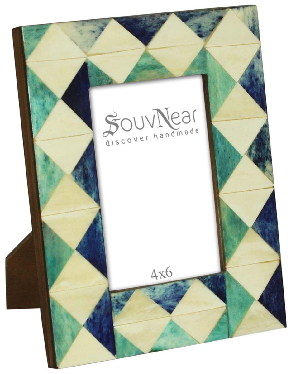 Bulk Buy 3.5x5 Inches Blue & Green Picture Frame - Wholesale Han ...