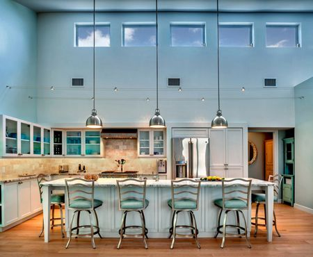Sherwin Williams Aqua Sphere Concepts And Colorways Kitchen With High Ceilings Buy Kitchen Cabinets Blue Kitchens