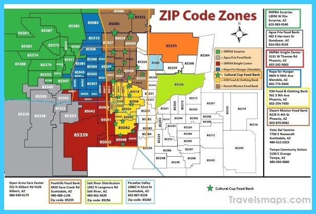 awesome Map of Phoenix/Mesa | Zip code map, Map, Zip code
