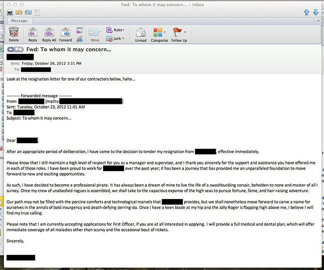 21 Most Hilarious Resignation Letters and Videos 2017 - funny resignation letter
