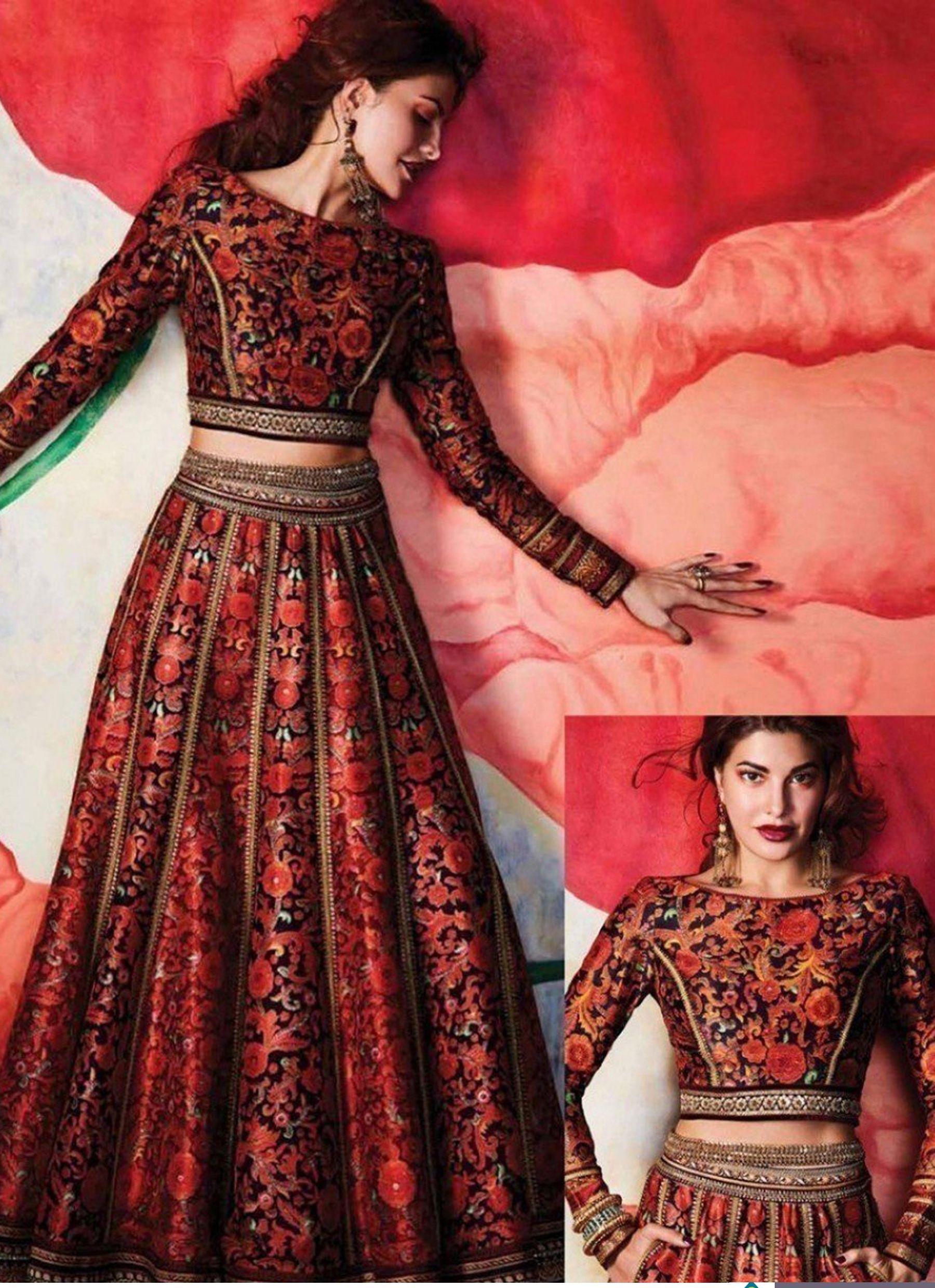 Jacqueline Fernandez Designer Crop Top Lehenga My Style