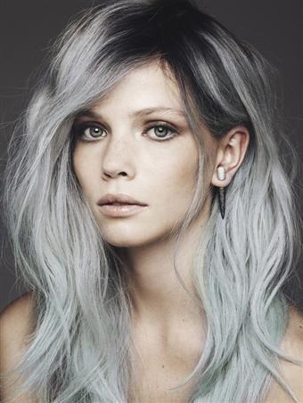 Degrade grey hair Capelli Color Verde Acqua df6170834b91