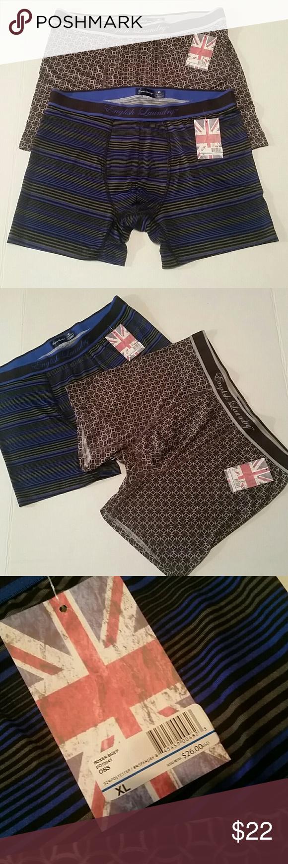 English Laundry Men S Boxer Briefs Size Xl Nwt English Laundry