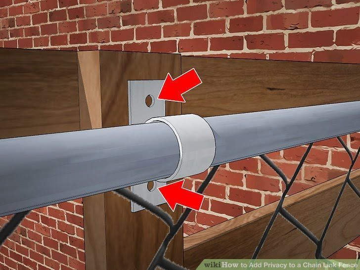 3 ways to add privacy to a chain link fence wikihow