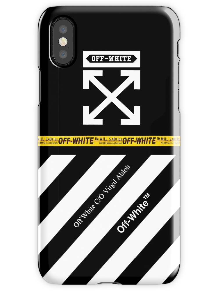 Off White Cover Full White Stripes Iphone X Snap Case White Iphone Case Stripe Iphone Case White Iphone