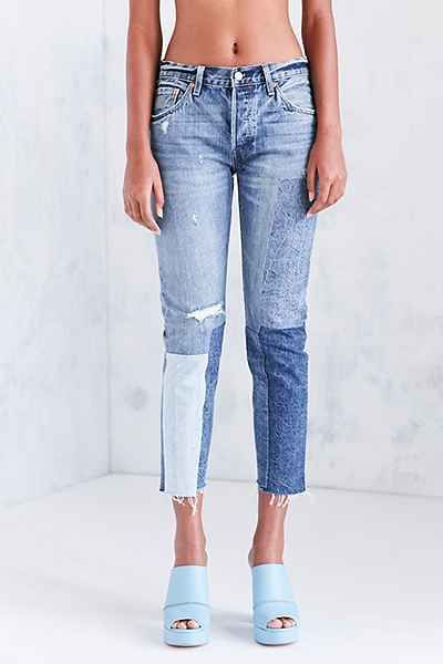 Levis 501 Colorblock Patch Skinny Jean - Ragged Lands - Urban Outfitters 0d11ba873c6