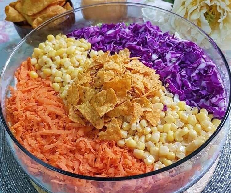 سلطة الناتشوز Nachos Salad Food Salads Rice