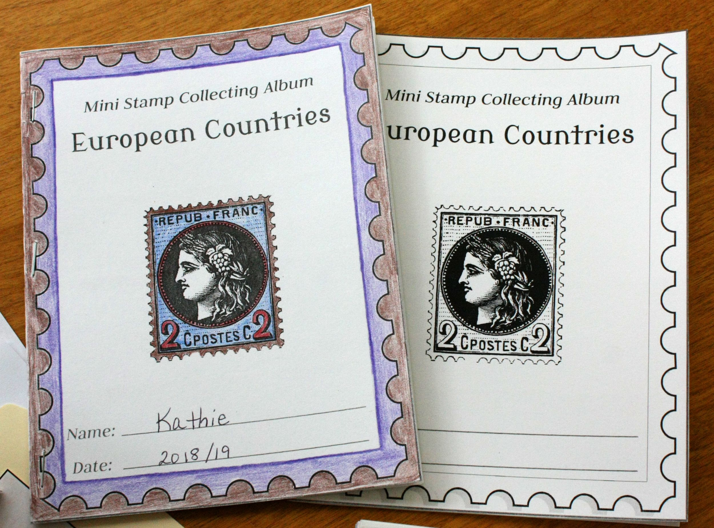 Map Folders And Stamp Collecting Albums Instructions And