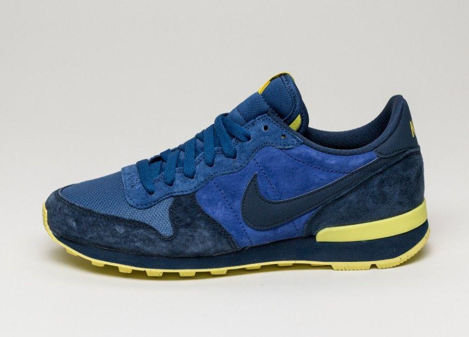 Nike Internationalist Leather (Midnight Navy / Midnight Navy - Light  Voltage Yellow)