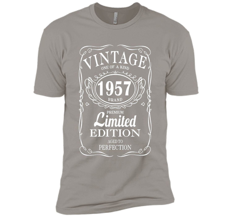 Vintage Born in 1957 60 Years Old Birthday Tshirt