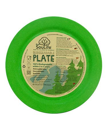 This Green Bamboo Dinner Plate is perfect! #zulilyfinds