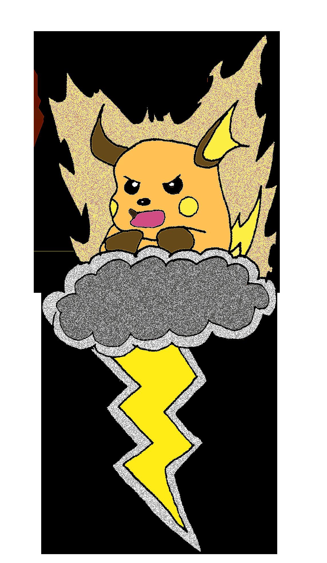 thunder,bolt,storm,cloud,raichu,pokemon Pokemon, Anime