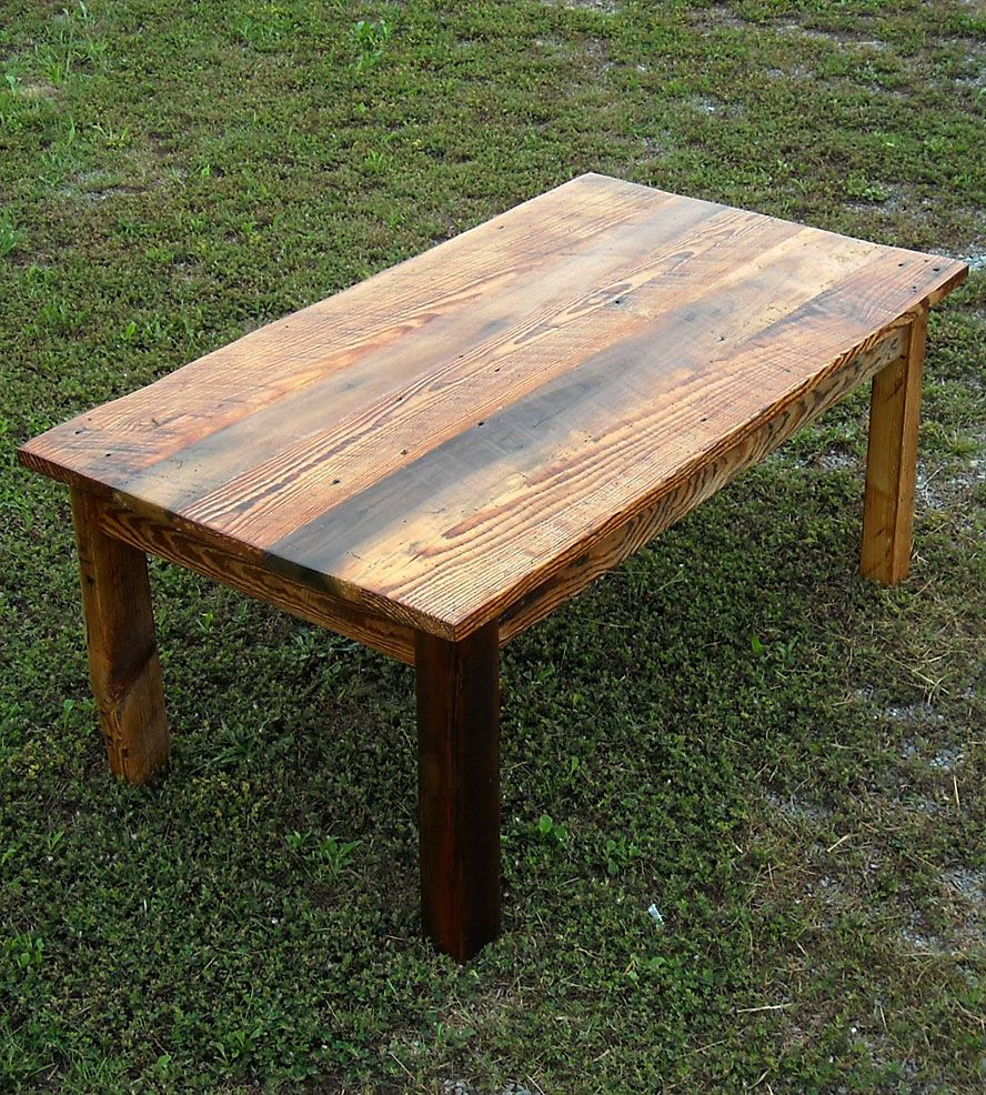 Reclaimed Wood Coffee Table Home Furniture The Rusted Nail