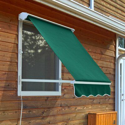 Freeport Park Blassingame 4 Ft W X 4 Ft D Fabric Retractable Standard Window Awning Wayfair In 2020 Window Awnings Custom Awnings Awning