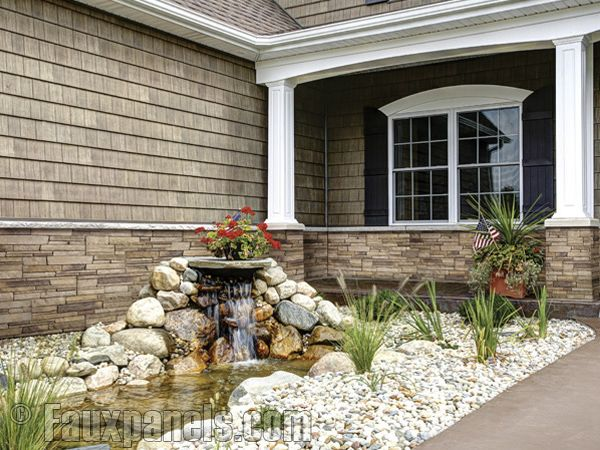 Manufactured stone siding panels that don\'t require stone masons ...