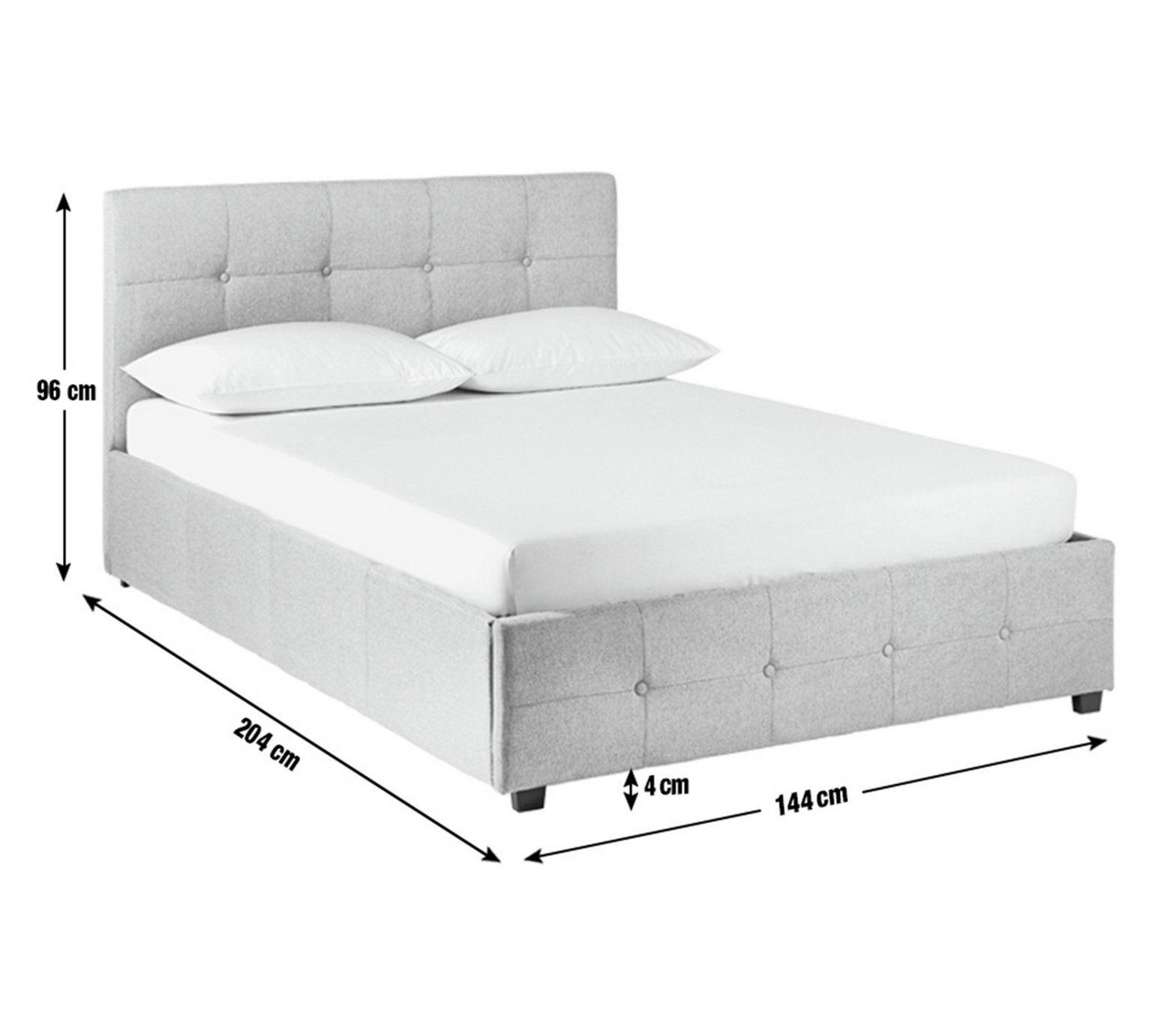 Phenomenal Home Eros Ottoman Double Bed Frame Grey Spare Room Creativecarmelina Interior Chair Design Creativecarmelinacom