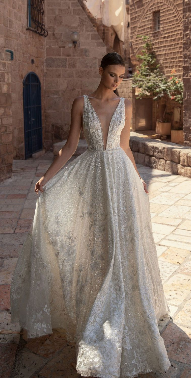 Sleeveless a line wedding dress Eden Aharon wedding dress 2019 Broadway Bridal Collection ,weddingdress. Eden Aharon bridal 2019