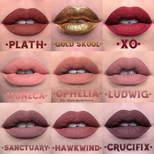Love this edit of @katvondbeauty upcoming liquid lipstick