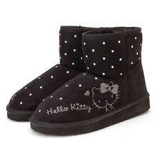 b37a2b1e2 New Sanrio Hello Kitty Women Winter Warm Boots Shoes Black Japan Import