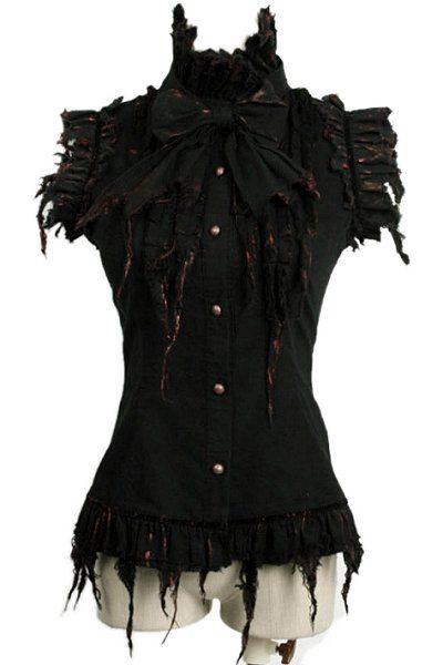 Dead Lyrics Sleeveless Gothic Shirt by Punk Rave  fca549f0ed