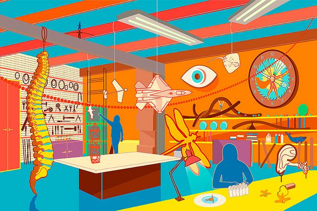 Curiosity Machine Garage Studio Perspective by I.O.A.N.A., via Flickr