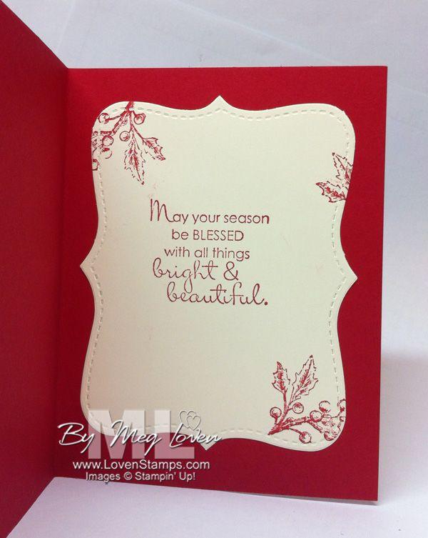Christmas Cards Ideas To Make Part - 38: Beautiful Season Holly Branch (tips U0026 Tricks) · Christmas Sayings For CardsWinter  SayingsChristmas IdeasChristmas ...