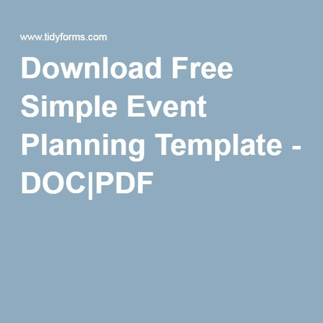 Download Free Simple Event Planning Template - DOCPDF Pure Love - event planning format