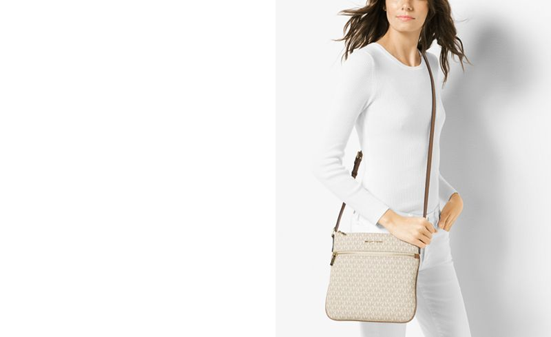 b47af6d63a75 MICHAEL Michael Kors Signature Bedford Flat Small Crossbody - Handbags    Accessories - Macy s