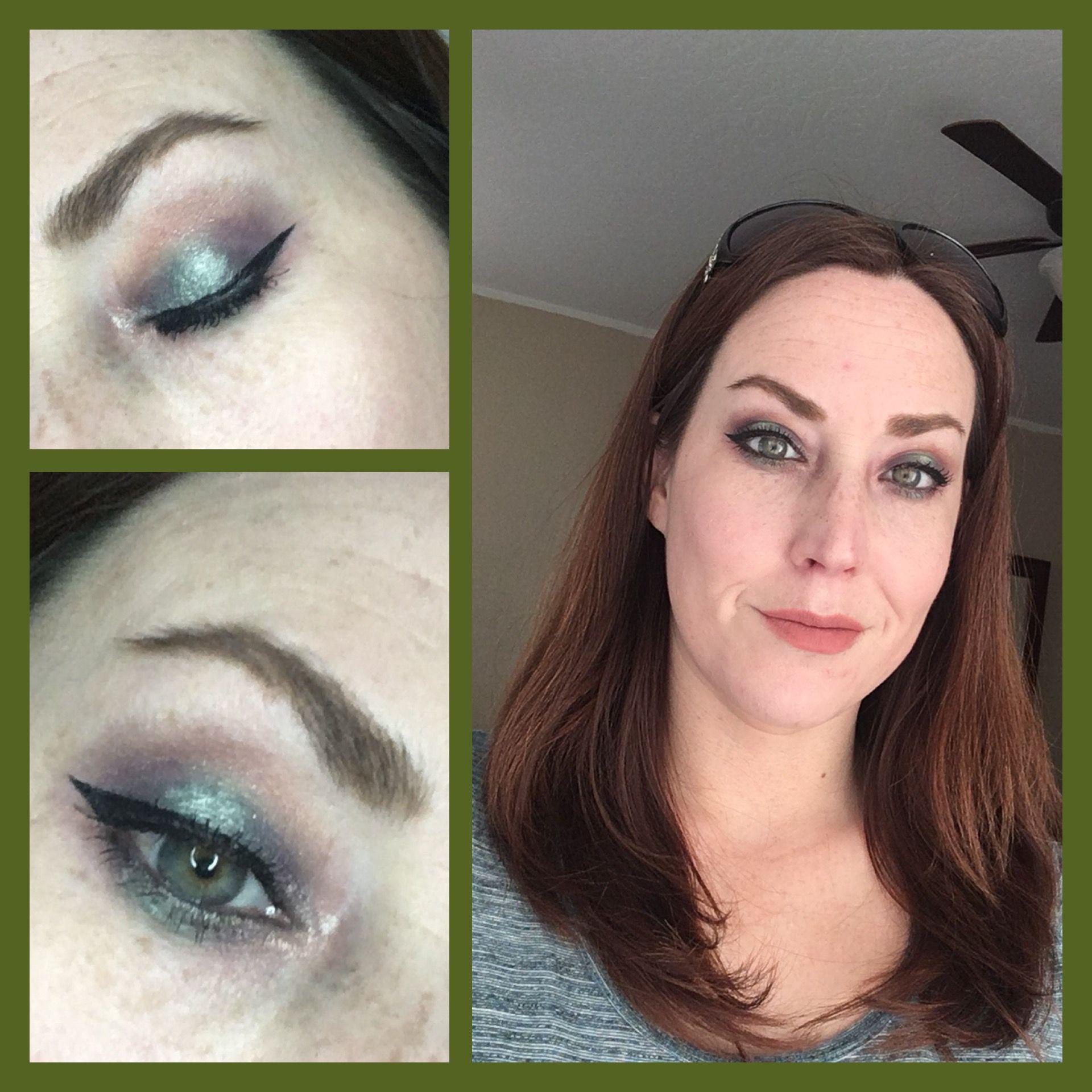 My first dark(er) halo eye! Younique eyeshadows