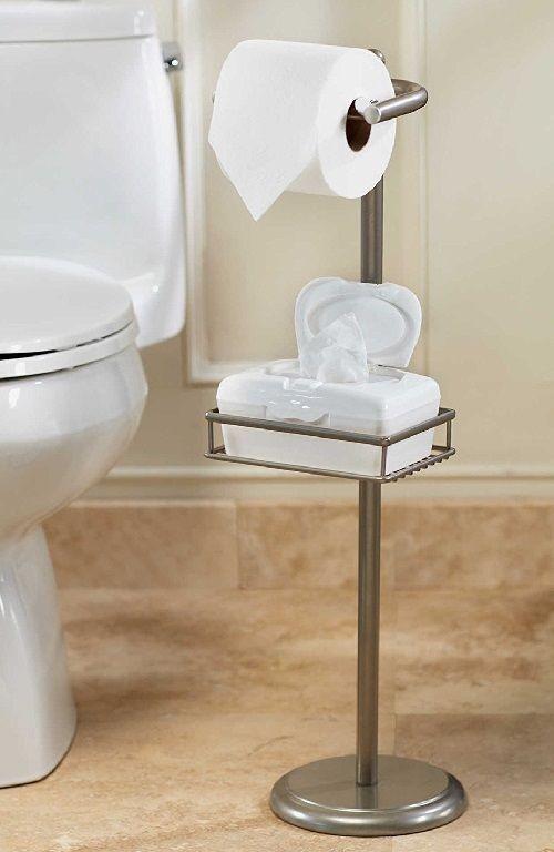 Pedestal Toilet Tissue Stand Paper Holder Wet Wipe Adjustable Shelf Bathroom.  Strikingly Design Porcelain ...