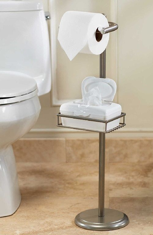 details about pedestal toilet tissue stand paper holder wet wipe adjustable shelf bathroom