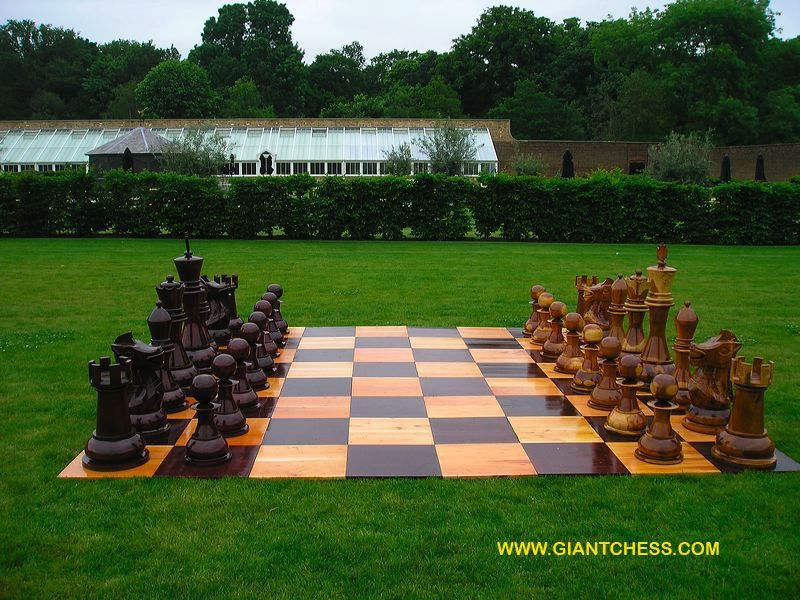 Beautiful Outdoor Chess Board.... Of Course Checkers Will Be Played As Well :
