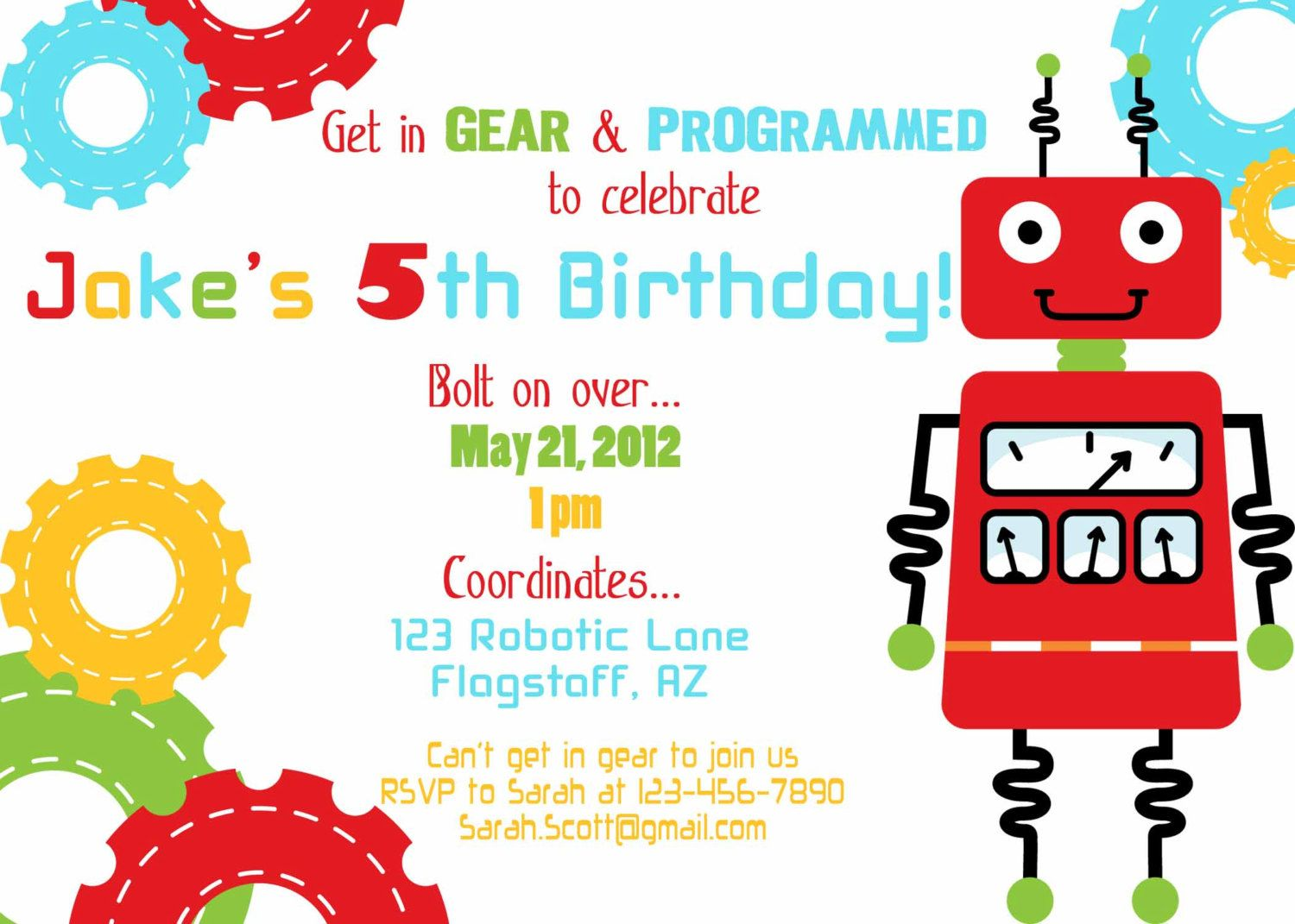Google image result for httpimg3systatic00006334226 robot birthday party and how to pput together one robot birthday party invitation wording filmwisefo Gallery