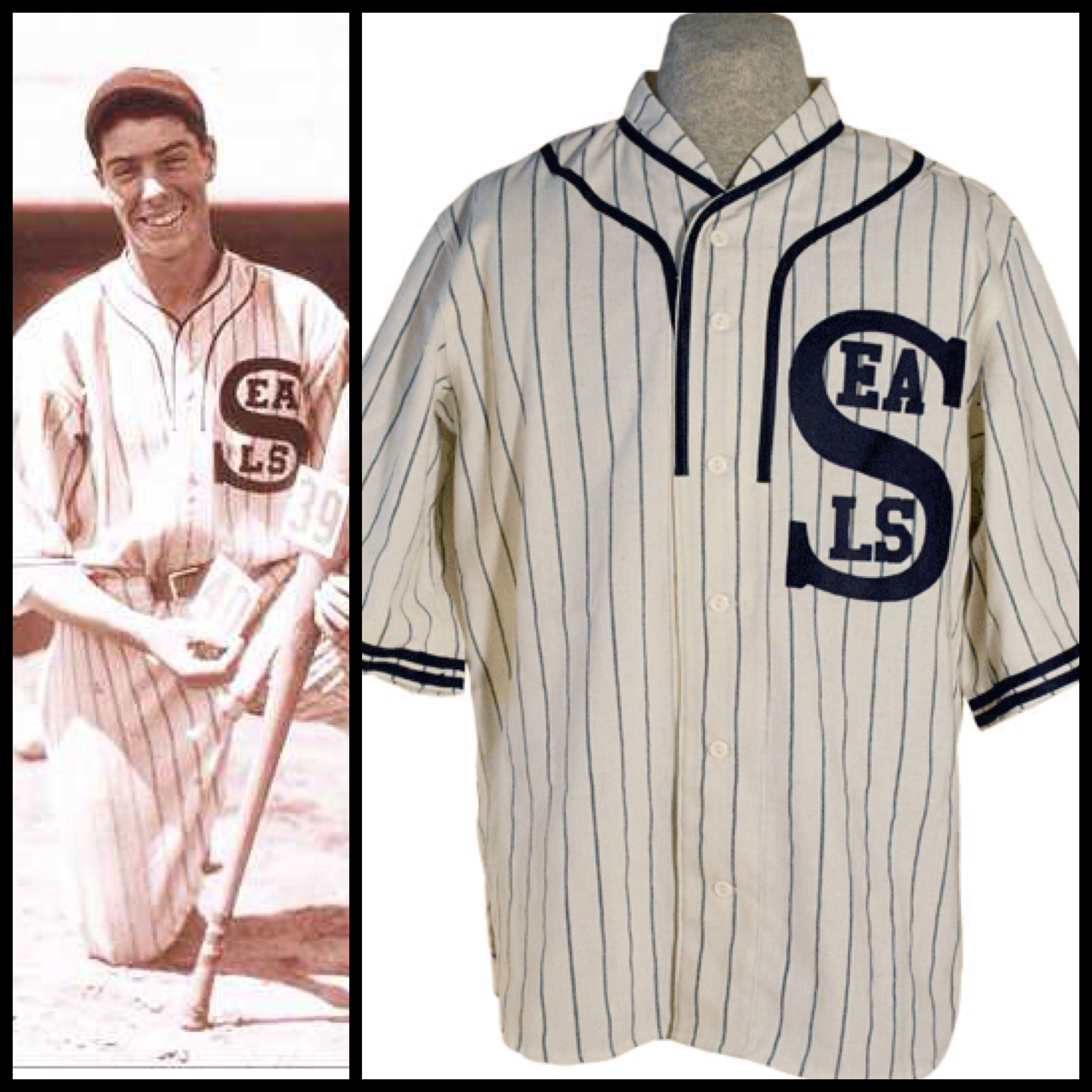 1e5b85b20 Joe DiMaggio s 1933 San Francisco Seals jersey