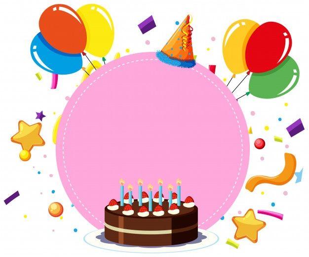 Baixe Um Modelo De Cartao De Aniversario Gratuitamente Birthday Card Template Birthday Card Template Free Happy Birthday Frame