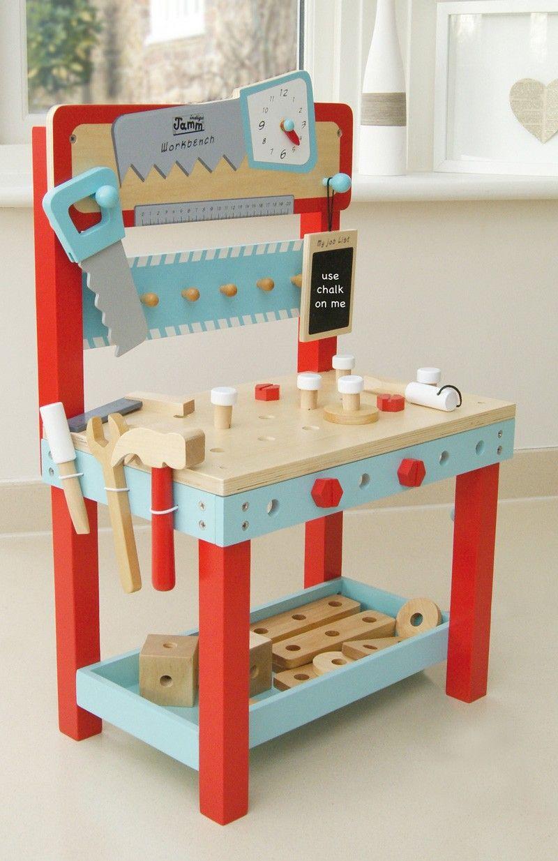 Designer Kids Wooden Toys   Indigo Jamm Little Carpenters Bench   An  Attractive Colourful First Work