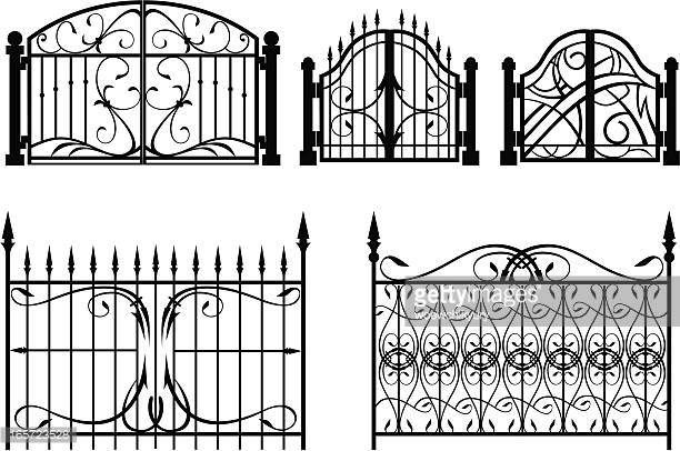 Examples Of Design Of Forged Fences And Gates With Images Gate